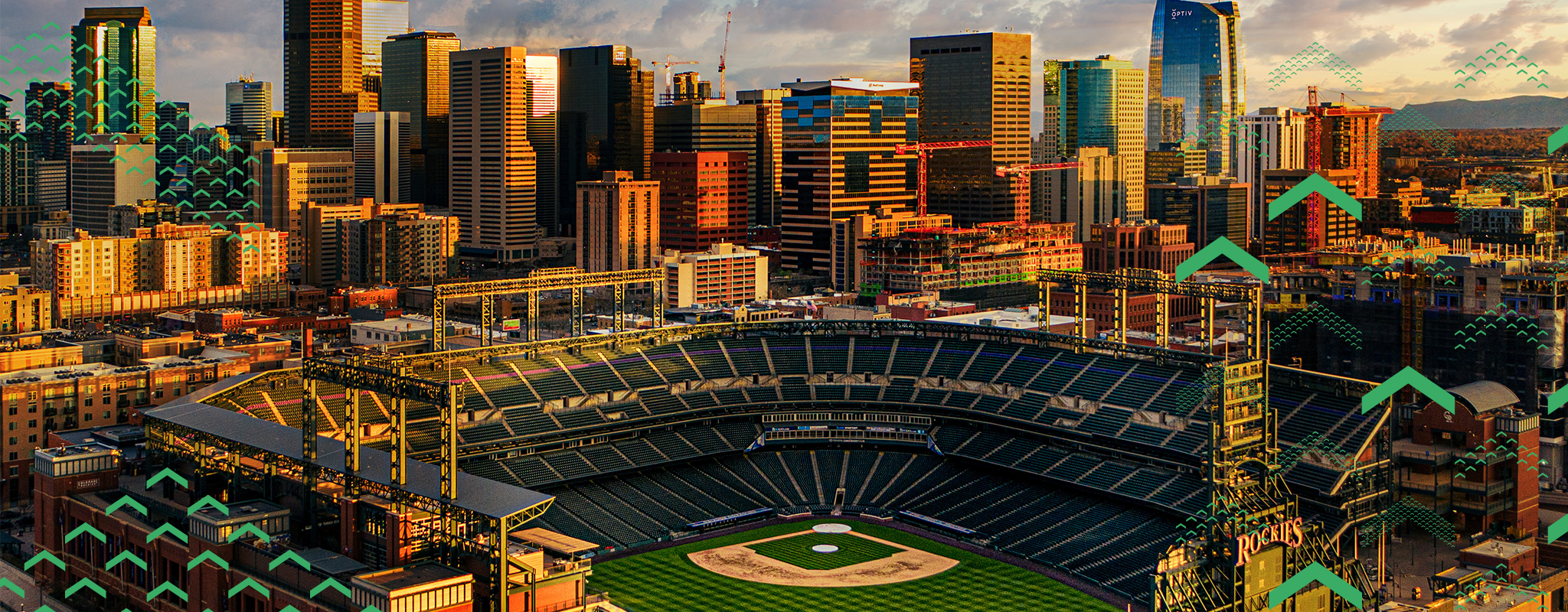 Denver Skyline and Coors Field