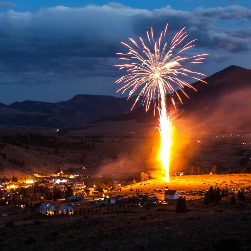 Estes Park Colorado Fireworks Show